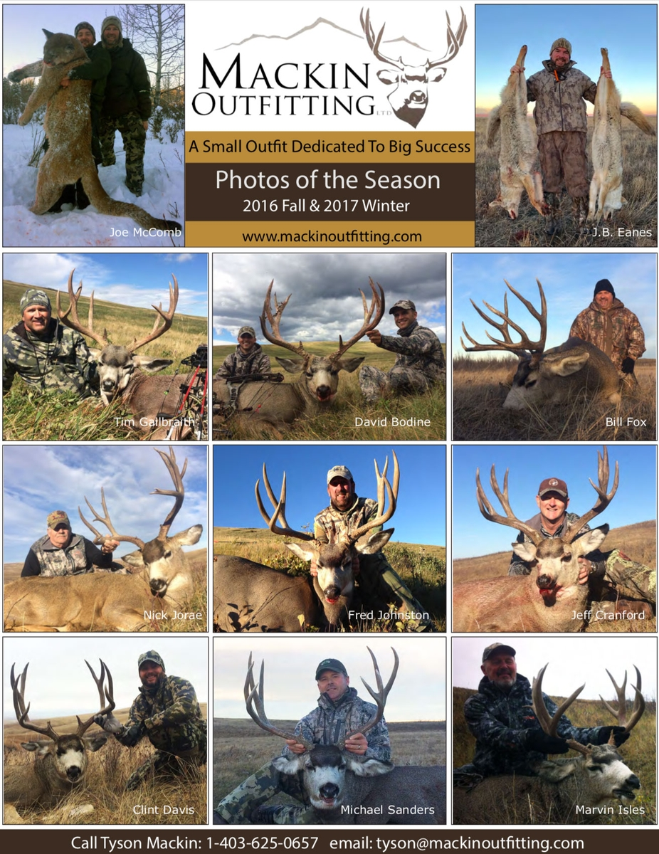 2016 Fall & 2017 Winter Hunt Report